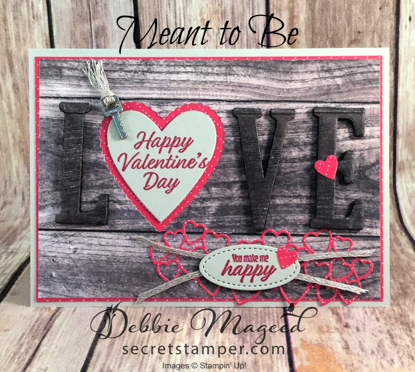 Learn how to make this Masculine Valentines Card Featuring Meant to Be Stamp Set, #DebbieMageed #Meanttobe #Valentines #Masculine #OccasionsCatalog