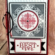 Fun Medallion Card Featuring All Adorned Stamp Set by Stampin