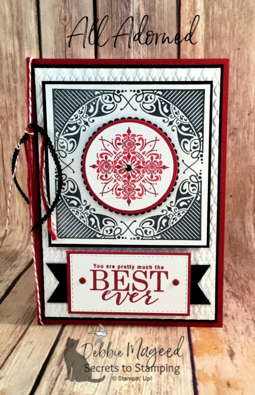 Fun Medallion Card Featuring All Adorned Stamp Set by Stampin' Up!