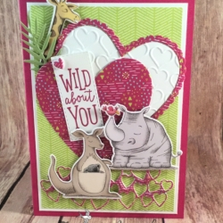 Valentines Card using Animal Outing for All Ages