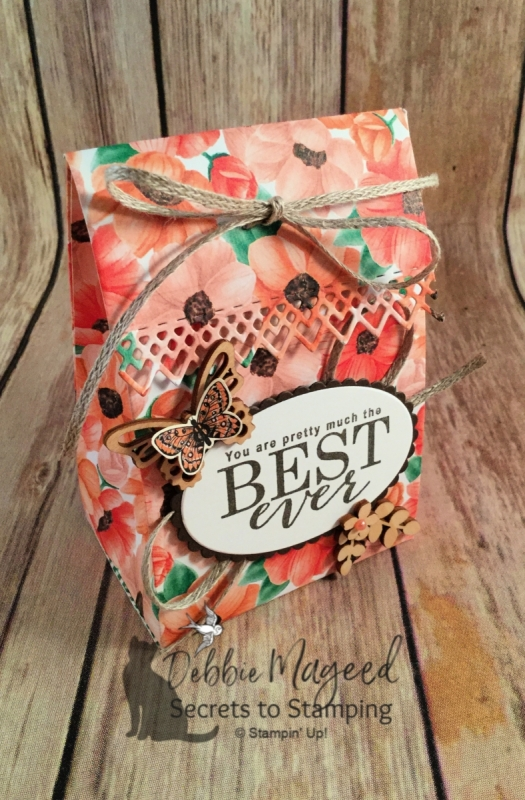 Pretty Gift Bag using All Adorned Stamp Set by Stampin' Up!
