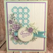 Beautiful Spring Card Featuring Climbing Roses by Stampin
