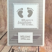 Sweet Baby Card Using First Steps by Stampin