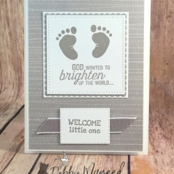Sweet Baby Card Using First Steps by Stampin' Up!