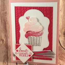 Sweet Card using Hello Cupcake Stamp Set. Secrets to Stamping