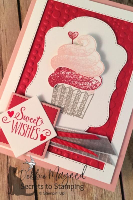 Sweet Card using Hello Cupcake Stamp Set. Secrets to Stamping