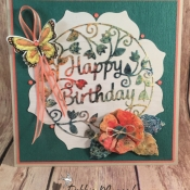 Pretty Spring Birthday Card by Debbie Mageed, Secrets to Stamping
