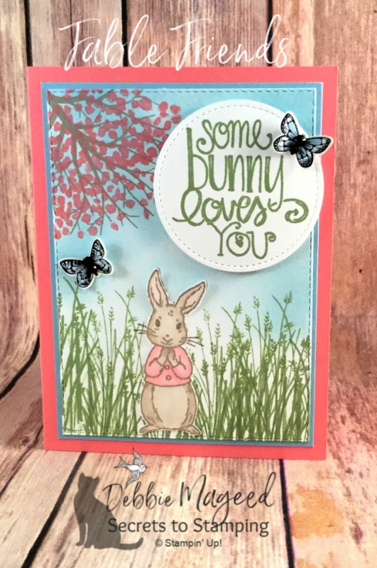 Sweet Card for a Loved One Using Fable Friends by Stampin' Up!