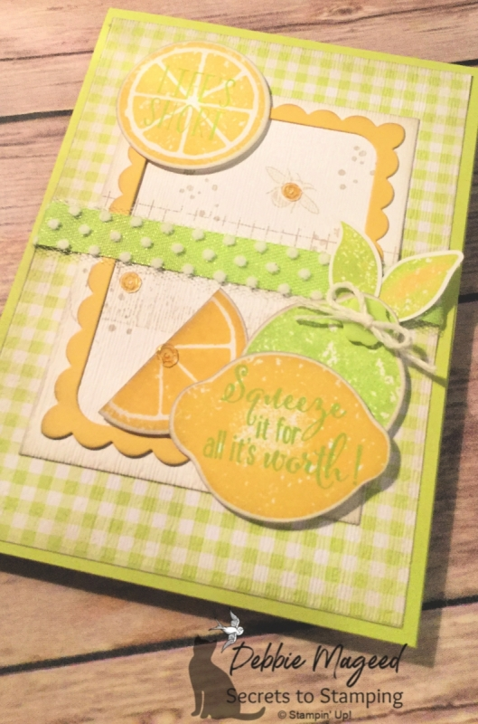 Fresh All Occasion Card Featuring Lemon Zest Stamp Set by Stampin' Up!