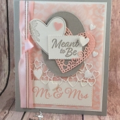 Sweet Wedding Card Featuring To Have & To Hold and Meant to Be Stamp Sets by Stampin