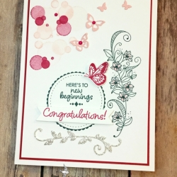 Clean and Simple Wedding Card Features Beauty Abounds Bundle by Stampin' Up!