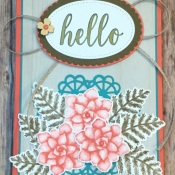 Rustic All Occasion Card Featuring Painted Seasons and Calligraphy Essentials by Stampin