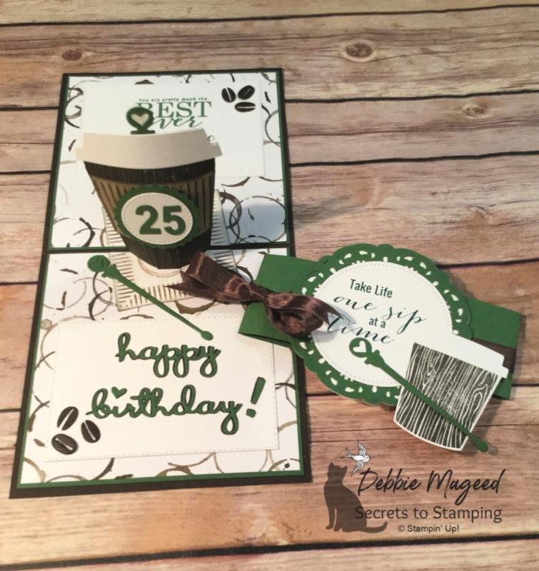 A Coffee Cafe Pop Up Birthday Card For Cardz 4 Galz