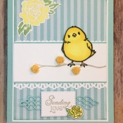 Cute Springtime Card Featuring Climbing Roses and Honeycomb Happiness Stamp Sets by Stampin