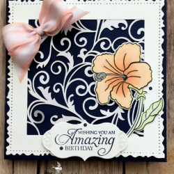 Elegant Birthday Card Using Humming Along Stamp Set by Stampin' Up!