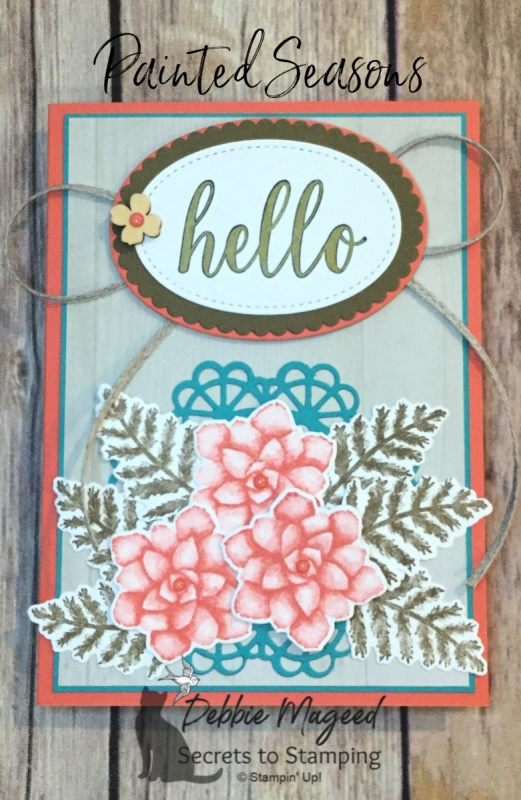Rustic All Occasion Card Featuring Painted Seasons and Calligraphy Essentials by Stampin' Up!