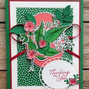 Pretty Spring Card Featuring Wonderful Romance Stamp Set by Stampin
