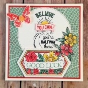 Graduation or Encouragement Card using Believe You Can Stamp Set by Stampin