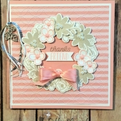 Sweet Wreath Card Made from Bouquet Blooms by Stampin