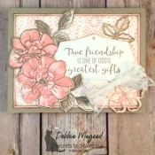 Vintage Friendship Card Featuring To A Wild Rose Stamp Set by Stampin