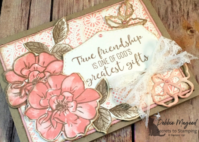 Vintage Friendship Card Featuring To A Wild Rose Stamp Set by Stampin' Up!