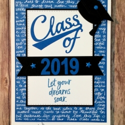 Graduation Card in School Colors with Taylored Expressions Dress for Success Dies and Stampin' Up!