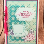 Tea Together is Detailed with Love for Hand Stamped Sentiments