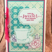 Pretty Friendship Card Featuring Tea Together and Detailed with Love Stamp Sets by Stampin