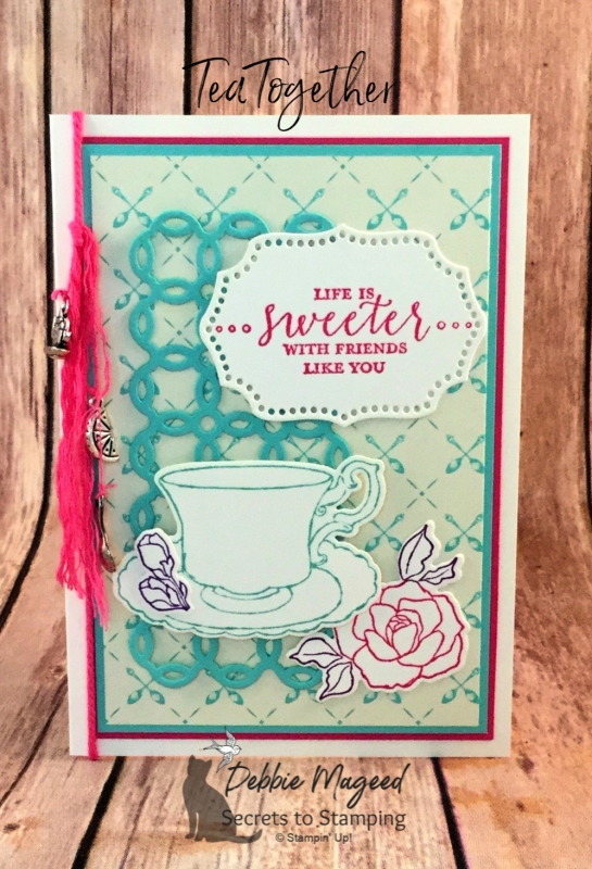Pretty Friendship Card Featuring Tea Together and Detailed with Love Stamp Sets by Stampin' Up!