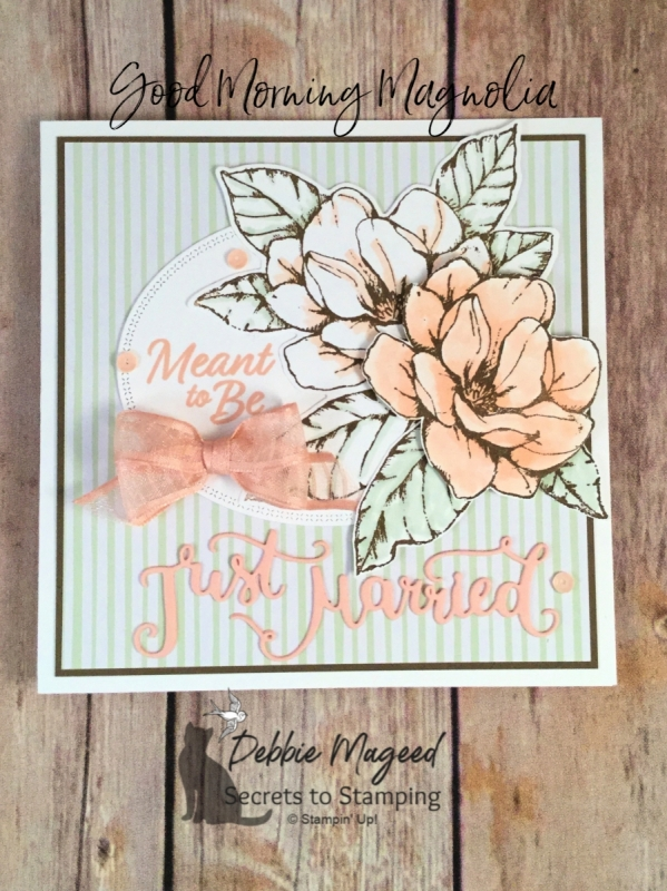 Elegant Wedding Card Featuring Good Morning Magnolia Stamp Set by Stampin' Up!