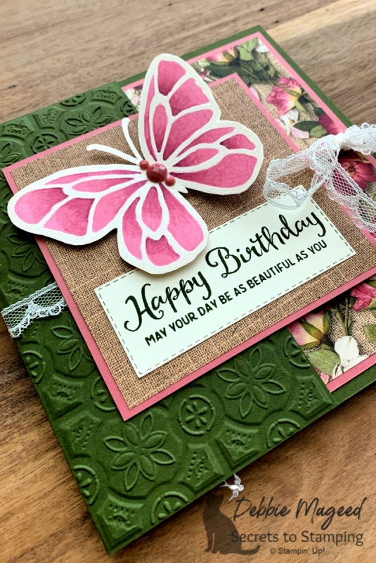 Beautiful Birthday Card featuring Beautiful Day Stamp Set by Stampin' Up!