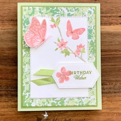 Birthday Card Featuring Butterfly Wishes by Stampin' Up!