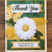 Thank You Card Featuring Daisy Delight Stamp Set by Stampin