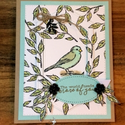 Pretty All Occasion Card Using Free As A Bird Stamp Set by Stampin' Up!