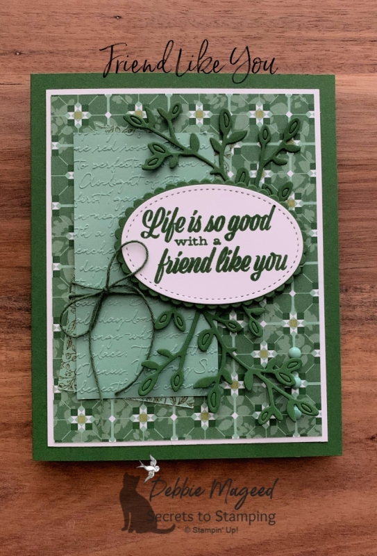 Friendship Card featuring Friend Like You and Garden Lane by Stampin' Up!