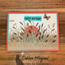 Pretty Sunset Birthday Card Featuring Friendly Silhouettes Dies by Stampin' Up!