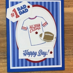 Sports Card using Custom Tee Stamp Set by Stampin' Up!