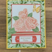 Mosaic Birthday Card Featuring Butterfly Wishes by Stampin