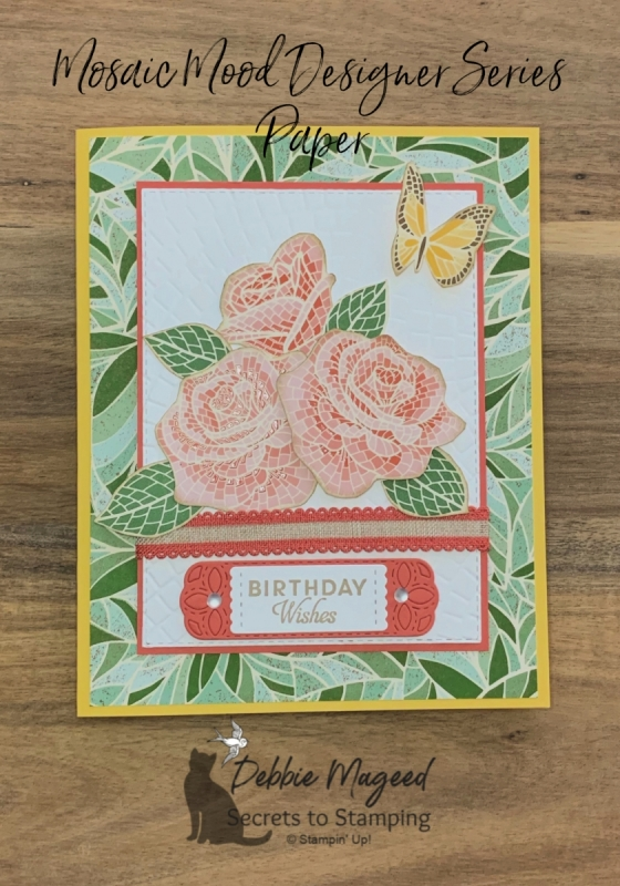 Mosaic Birthday Card Featuring Butterfly Wishes by Stampin' Up!