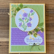 Soft Summery Birthday Card using Path of Petals by Stampin
