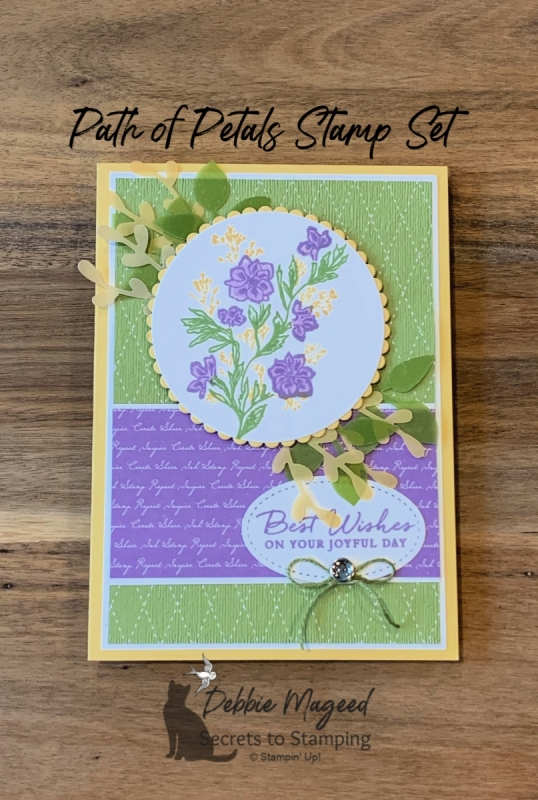 Soft Summery Birthday Card using Path of Petals by Stampin' Up!