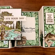 Great Masculine Card Using Peaceful Place and Best Catch by Stampin