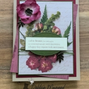 Celebration card Featuring Praiseworthy Prose by Stampin