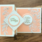 Elegant Wedding Card Using Beautiful Bouquet Stamp Set by Stampin