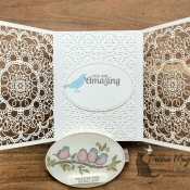 Lovely Lace Friendship card using Free As A Bird by Stampin
