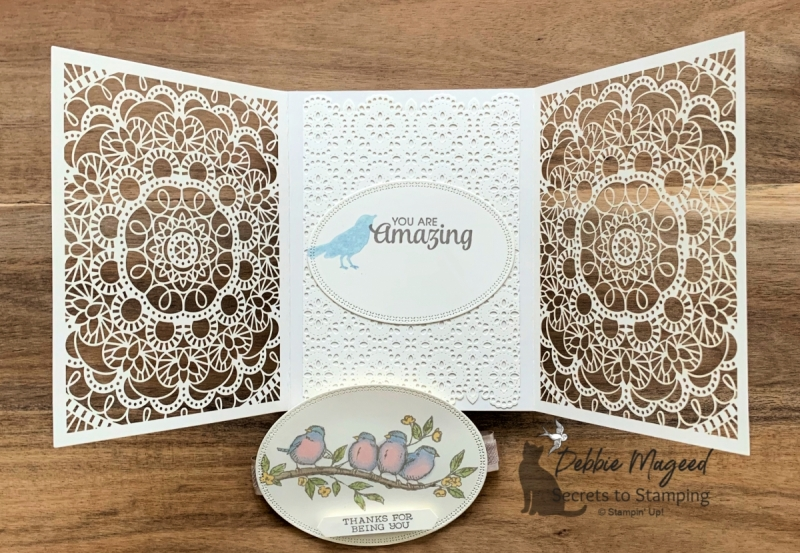 Lovely Lace Friendship card using Free As A Bird by Stampin' Up!