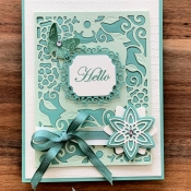 Paper Pieced All Occasion Card using Stampin