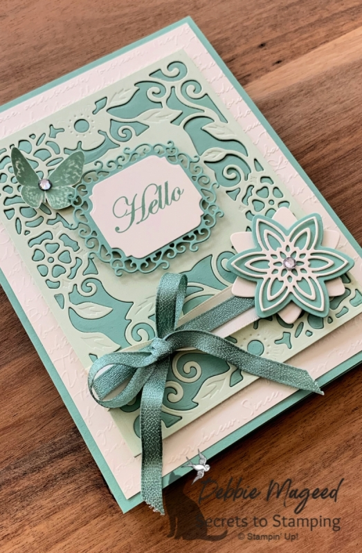 Paper Pieced All Occasion Card using Stampin' Up! Products