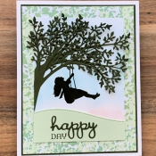 Summer Card featuring Silhouette Scenes by Stampin