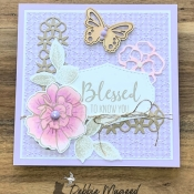 Pretty Friendship Card Using To A Wild Rose by Stampin